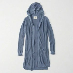 A&F Lightweight Hooded Duster Cardigan!